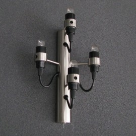2097 wall lamp Flos silver color 4 bulbs front view