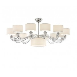 TamTam Chandelier Barovier&Toso white color front view