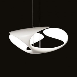 Clover pendant lamp Kundalini white color front view