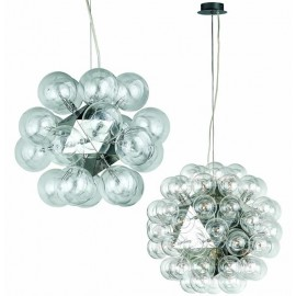 Taraxacum pendant lamp Flos transparent color front view