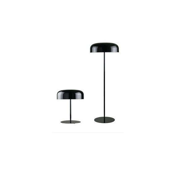 Canopy floor lamp Oluce black color front view