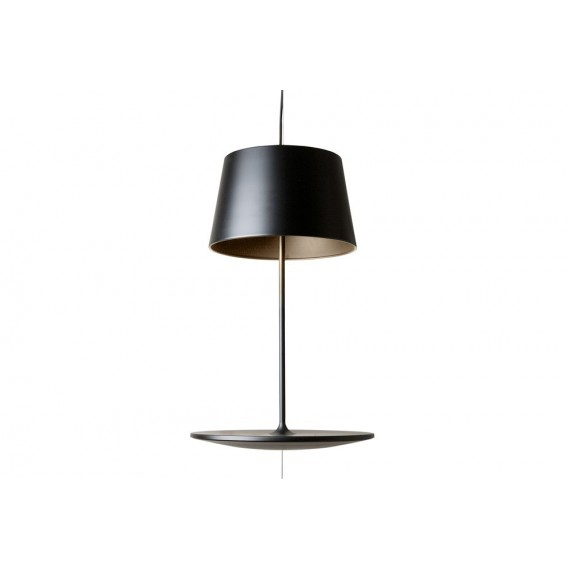 Illusion pendant lamp Northern lighting black color front view