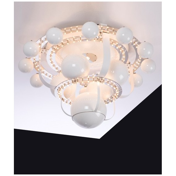 Royal BB Luxury Ceiling lamp Quasar white color M front view