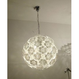 Flower Chandelier Muralight white color S front view