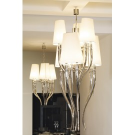 Visionnaire Brunilde Chandelier white color 6 lights
