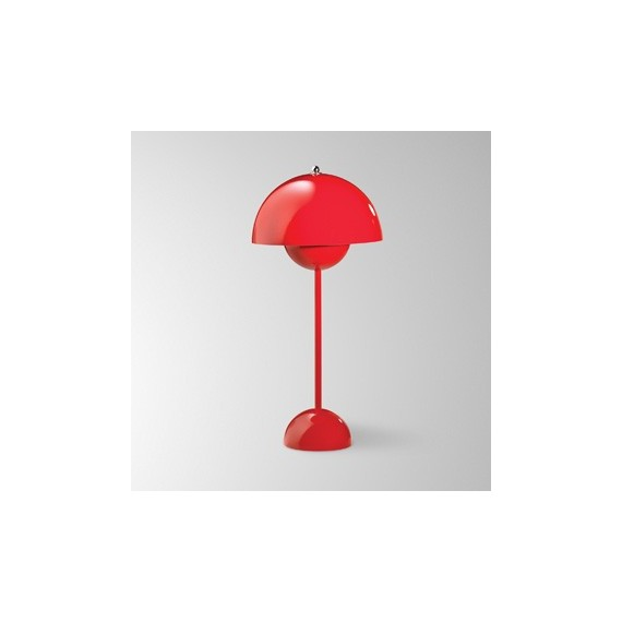 Flowerpot table lamp And Tradition red color front view