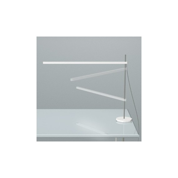 Talak LED table lamp Artemide white color side view