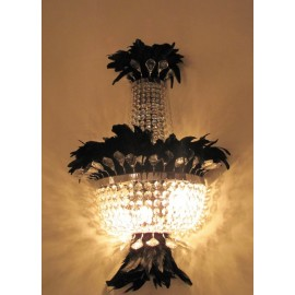 Bird floor lamp black color with detail