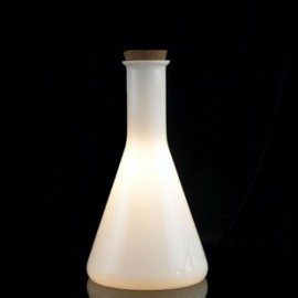 Labware table lamp Authentics white color Conical front view