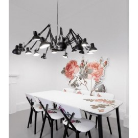 Dear Ingo design pendant lamp Moooi black color in dining room