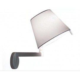 Melampo wall lamp Artemide grey color front view