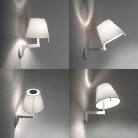 Melampo wall lamp Artemide grey color with detail