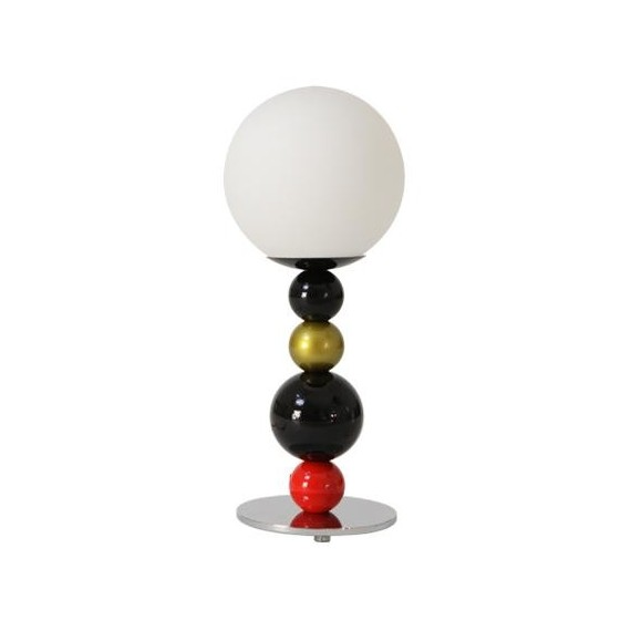 RGB table lamp Zero red color front view
