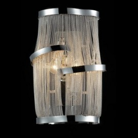 Atlantis wall lamp Terzani nickel color front view