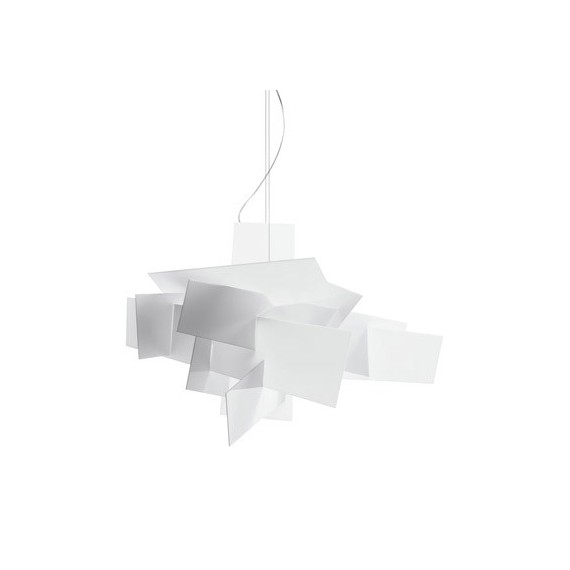 Big Bang pendant lamp Foscarini white color front view