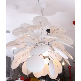 Discoco pendant lamp Marset white color with detail