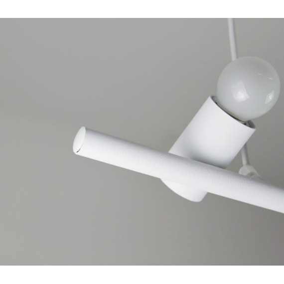 Bird pendant lamp white color with detail
