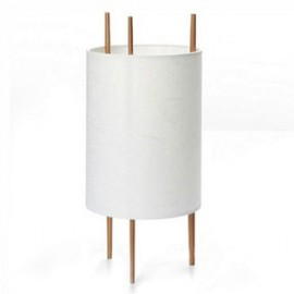 Cylinder table lamp Dezignlover white color front view