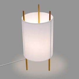 Cylinder table lamp Dezignlover white color side view