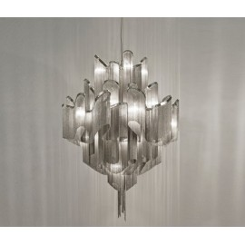 Stream Chandelier Terzani nickel color D60cm front view