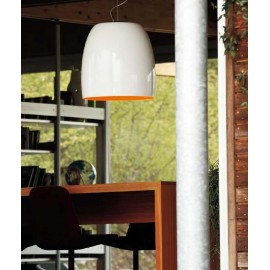 Notte pendant lamp Prandina white/white color front view