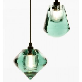 Pressed Glass in color pendant lamp