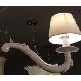 DEJA VU pendant lamp single Karman white color side view