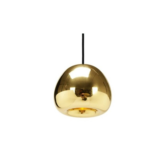 Void Mini pendant lamp Tom Dixon copper color front view