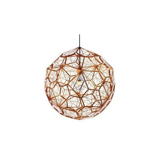 Etch WEB pendant lamp Tom Dixon gold color front view