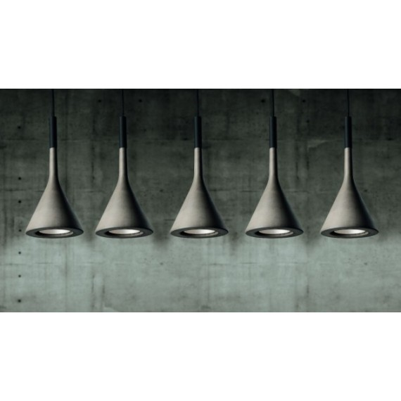 Aplomb LED pendant lamp Foscarini grey color front view