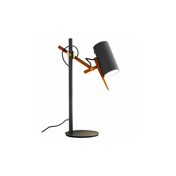Scantling table lamp Marset grey color front view