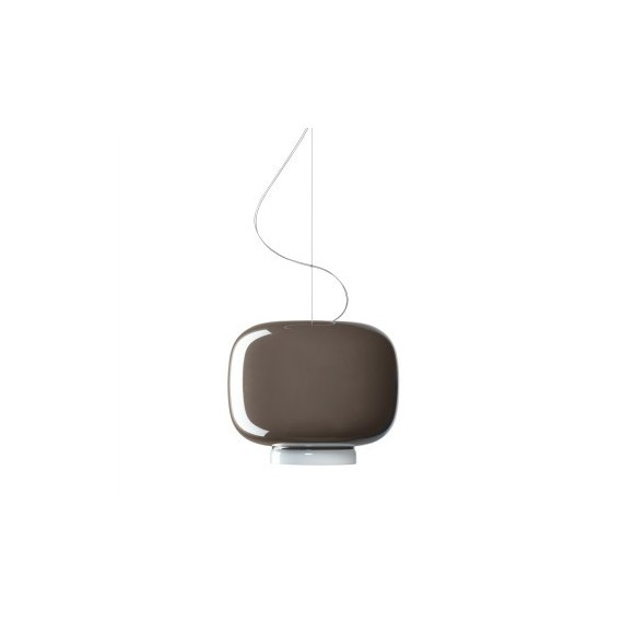 Chouchin 3 pendant lamp Foscarini grey color front view