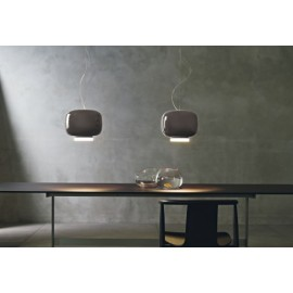 Chouchin 3 pendant lamp Foscarini grey color side view