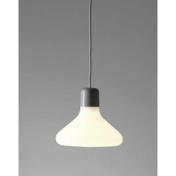 Form pendant lamp Form us with love white color Cone front view