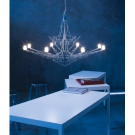 Lightweight pendant lamp Chandelier Foscarini white color front view