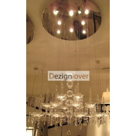 Limelight luster chandelier Facon de venise transparent color Diam 65cm back view