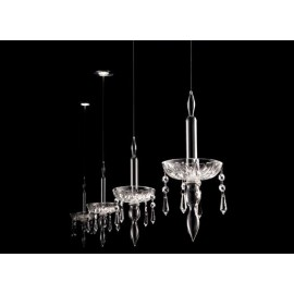 Limelight built in pendant lamp Facon de venise transparent color front view