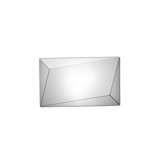 Ukiyo ceiling or wall lamp rectangle Axo white color front view