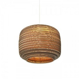 Ausi Scraplight pendant lamp Foscarini natural color front view
