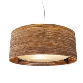 Drum Scraplight pendant lamp Foscarini natural color front view