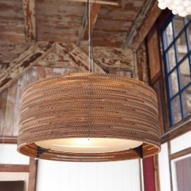 Drum Scraplight pendant lamp Foscarini natural color with detail