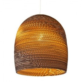 Bell Scraplight pendant lamp Foscarini natural color front view