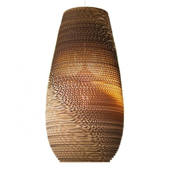 Drop Scraplight pendant lamp Foscarini natural color front view