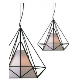 Himmeli pendant lamp Kevin Reilly Lighting black color front view