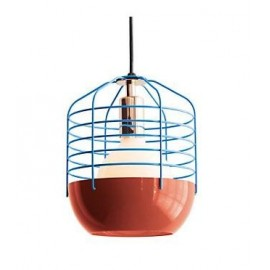 Bluff Cty pendant lamp Kevin Reilly Lighting red/blue color front view
