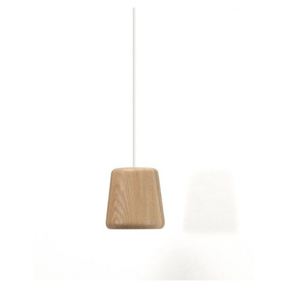 Wood Blub LED pendant lamp Kevin Reilly Lighting natural color A front view