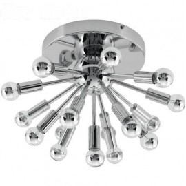 Sputnik ceiling lamp chrome color front view