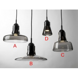 Shadows LED pendant lamp Brokis opaque dark grey color A / B / C / D