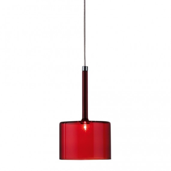 Spillray pendant lamp L Axo red color front view