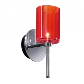 Spillray wall lamp Axo red color front view